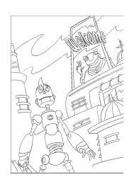 Robots Kleurplaten Printen 8