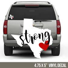 Texas Strong Vinyl Decal Hurricane Harvey Fundraiser Decal