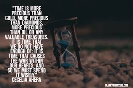 brilliant quotes about time and its mystery planet of success