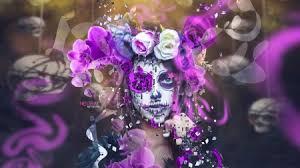 dia de los muertos fantasy abstract