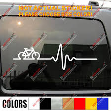 Cycling Funny Bike Bicycle Decal Sticker Heart Beat Ekg Car Vinyl Racing Rider Car Stickers Aliexpress