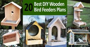 diy wooden bird feeders plans and ideas