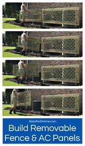 Diy Removable Ac Screen Or Removable Fence Panel Abbotts At Home