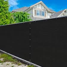 Amazon Com Amgo 6 X 50 Black Fence Privacy Screen Windscreen With Bindings Grommets Heavy Duty For Commercial And Residential 90 Blockage Cable Zip Ties Included Available For Custom Sizes