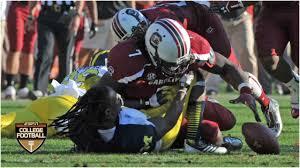 Jadeveon Clowney unleashes vicious hit vs. Michigan in 2013 ...