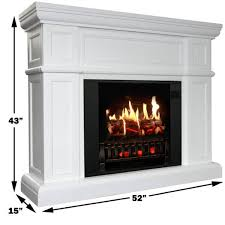 artemis white electric fireplace