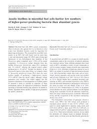 PDF) Kiely P, Call D, Yates M, Regan J, Logan B.. Anodic biofilms in  microbial fuel cells harbor low numbers of higher-power-producing bacteria  than abundant genera. Appl Microbiol Biot 88: 371-380