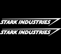 Amazon Com Stark Industries Sticker Vinyl Decal Marvel Iron Man Avengers Car Window X2 Die Cut Vinyl Decal For Windows Cars Trucks Tool Boxes Laptops Macbook Virtually Any Hard Smooth Surface Automotive