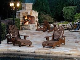 outdoor wood burning fireplace