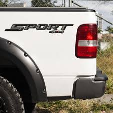 Set Of 2 Sport 4x4 Decal For 2017 2019 Ford F 150 F 250 Pickup Truck Us Rallystripes