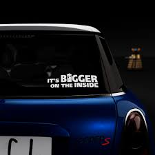 It S Bigger On The Inside Like Doctor Who S Tardis Sticker Decal Nerdecal
