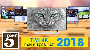 Top 10 tivi 4K bán chạy nhất Điện máy XANH năm 2018