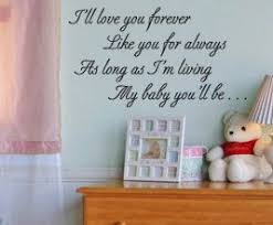 Ill Love You Forever Like Always As Long Im Living My Baby Etsy Vinyl Wall Quotes Wall Quotes Decals Decal Wall Art