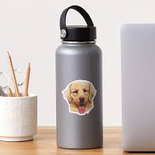Golden Retriever Good Boy Dog Vinyl Sticker Sticker By Bloomplanners Redbubble