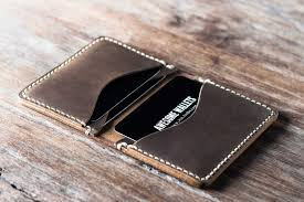 mens credit card wallet handmade