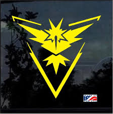 Pokemon Go Team Instinct Window Decal Sticker Custom Sticker Shop
