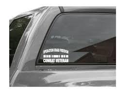 Operation Iraqi Freedom Combat Veteran Vinyl Window Decal Sticker Oif Ebay