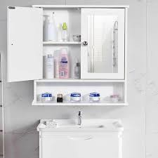 bathroom cabinet with mirror 58x56x13cm