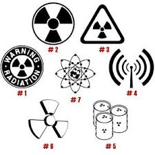 Radiation Warning Vinyl Decal Sticker Car Window Bumper Art Danger Sign X Ray Ebay