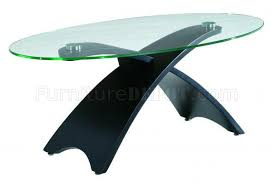 32c coffee table in black w clear glass