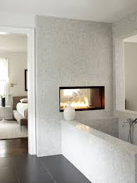 double sided fireplace contemporary