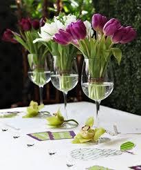 wine glass centerpieces