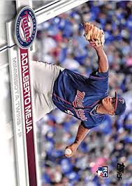 Amazon.com: Baseball MLB 2017 Topps #609 Adalberto Mejia RC Twins ...