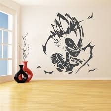 Vegeta Anime Vinyl Wall Decal Home Decoration Dragon Ball Z Character Wall Poster Removable Car Window Vinyl Sticker Art Lw718 Buy At The Price Of 7 23 In Aliexpress Com Imall Com