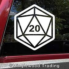 5 Pack D20 Dice Roleplaying Sticker Car Window Decal Tabletop Rpg Gaming Laptop Auto Parts And Vehicles Car Truck Graphics Decals Magenta Cl