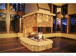 custom 3 sided fireplaces mason lite