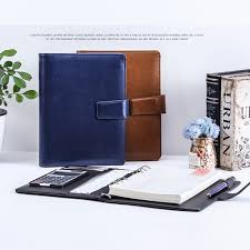 a5 pu leather refillable spiral loose