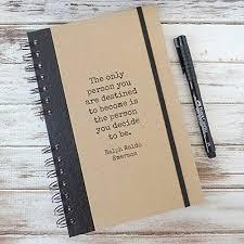 com graduation gift quote journal notebook ralph waldo
