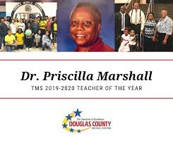 Dr. Priscilla Marshall is this year's... - Douglas County Georgia Schools    Facebook