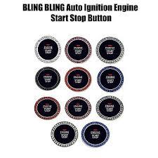 Crystal Car Bling Ring Emblem Rhinestone Ignition Button Decal Ebay
