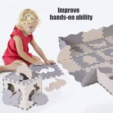 Snorda Baby Play Mat With Fence Interlocking Foam Floor Tiles With Crawling Mat Walmart Com Walmart Com