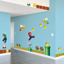 On Sale New Super Mario Bros Pvc Wall Sticker Decals Home Decor For Kids Baby Room Decor Decoration For Kids Home Decorpvc Wall Sticker Aliexpress
