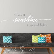 There Is Sunshine In My Soul Today Hymn Wall Decals Stickers