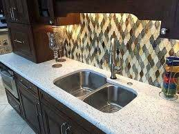 curava arctic recycled glass kitchen