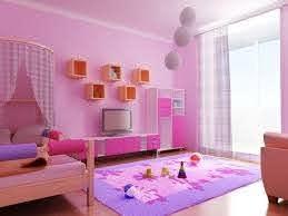 Pink Kids Bedroom With Floating Shelves Kids Interior Room Kids Room Paint Colors Kids Room Paint