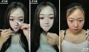 women remove their makeup