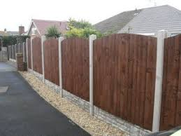 Fencing With Concrete Posts Painting And Coating Experts In Home Rehabs