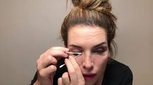 makeup when wearing eyelash extensions