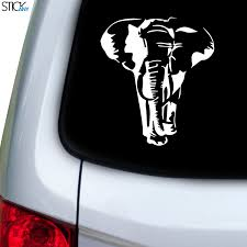 Elephant Front Large Decal For Car Window Stickany