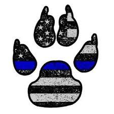 Police K9 Paw Thin Blue Line Flag Sticker Car Truck Vinyl Decal Bumper Owntheavenue