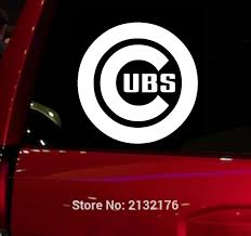 Mlb Chicago Cubs Baseball Auto Window Sticker Decal For Car Truck Suv Buy Fan Gear
