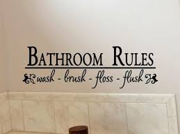 Bathroom Wall Art Bathroom Wall Decor Bathroom Rules Decal Etsy
