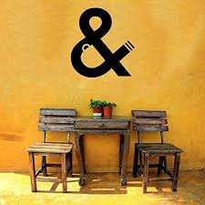Amazon Com Vinyl Sticker Ampersand Sign Logogram And Letter Word Symbol Mural Decal Wall Art Decor Sa3326 Handmade