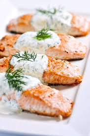 cold poached salmon with horseradish