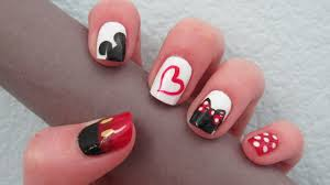 Mickey & Minnie Love Nail Art Design