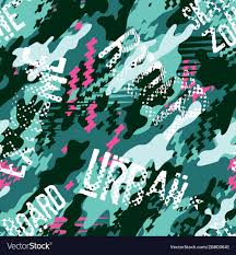 abstract camouflage wallpaper vector image
